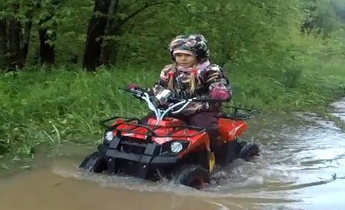 Квадрик GreenCamel Gobi K400 по уши в воде -))